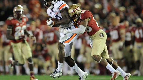 Auburn wide receiver Sammie Coates was nominated for the Allstate AFCA Good Works Team.
