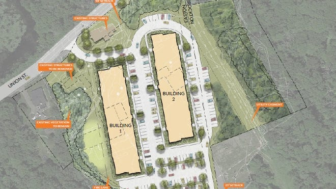 Blackledge Residential proposed for Union Street in Easton would consist of two, three-story colonial-style apartment buildings with a total of 108 units.