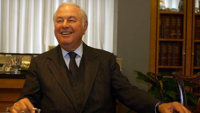 Alfred Taubman talked to the Detroit Free Press on Thursday morning, July 8, 2004.