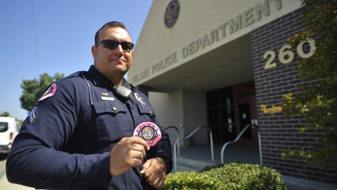 Corporal Lonzo Anderson is heading Tulare Police Department's Pink Patch fundraiser.
