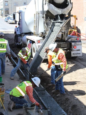 Town of Silver City workers recently replaced aging curbs, gutters and sidewalks, and repaved Market Street east of Bullard Street to the Big Ditch Bridge.