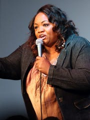 """Ms. Pat performs during a taping of """"Laughs"""", a new FOX test series, at Morty's Comedy Joint in Indianapolis."""