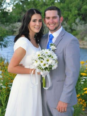 Callie Ehrlich and Brady Hamblin were married July 2.