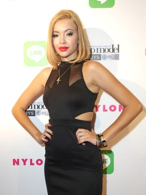"""Mirjana Puhar attends """"America's Next Top Model"""" Cycle 21 premiere party presented by NYLON and LINE at SupperClub Los Angeles on August 20, 2014 in Los Angeles, California."""