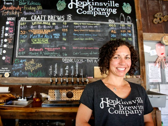 Kate Russell of Hopkinsville Brewing Company says the