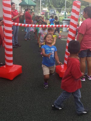 """Children at Immokalee Child Care Center are becoming fit through a preschool fitness and wellness program called """"FIT START."""""""