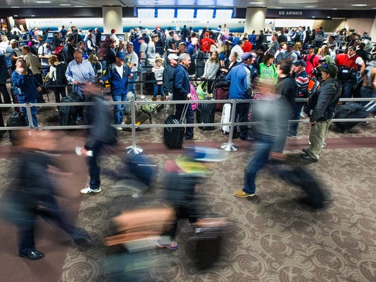 Sky Harbor International Airport crowds
