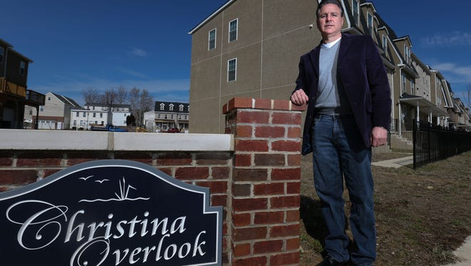 Anthony Cassale, owner of Cassale Construction, stands at the Christina Overlook development in the Browntown neighborhood of Wilmington. He said the city's convoluted permitting process can be frustrating for developers.