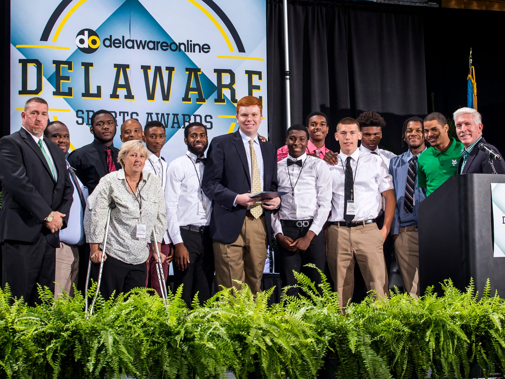 Members of the Mount Pleasant boys basketball team were named the team of the year at the Delaware Sports Awards banquet at the Bob Carpenter Center at the University of Delaware in Newark on Wednesday evening.