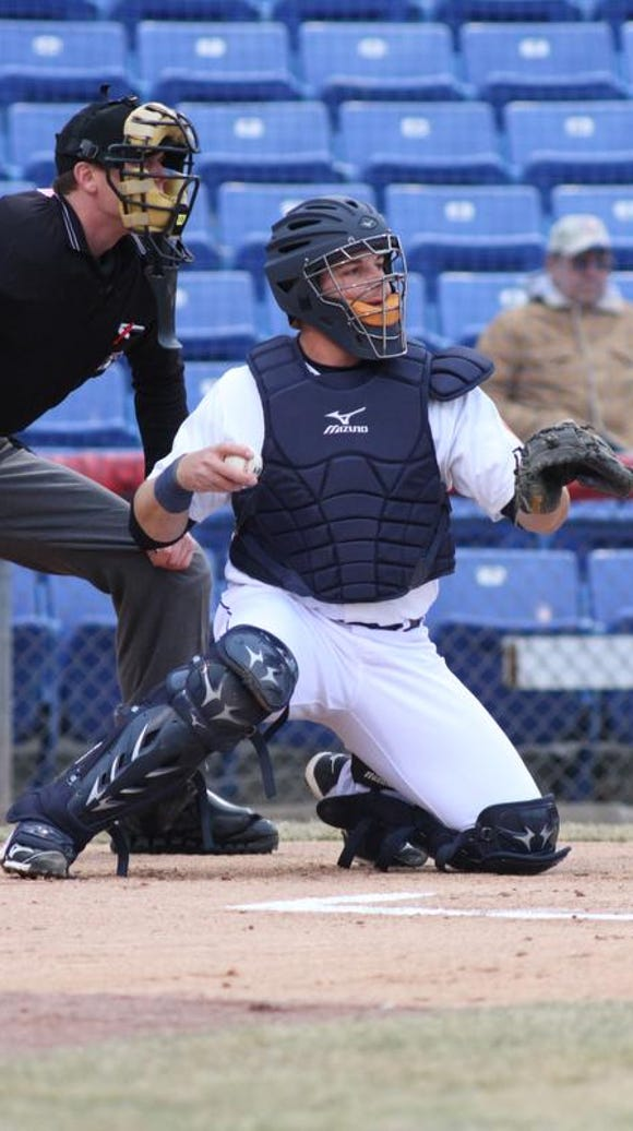 Kevin Plawecki behind the plate for the B-Mets during