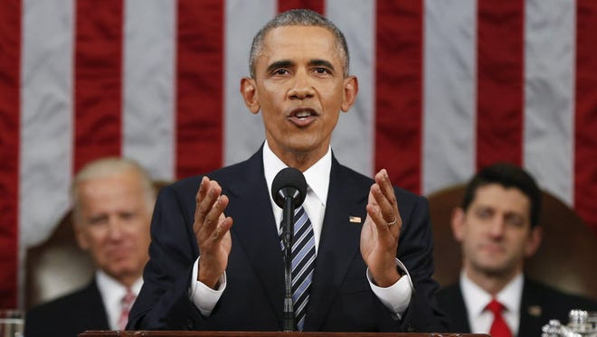 President Obama during his State of the Union Address on Jan. 12, 2016.