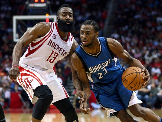 NBA: Minnesota Timberwolves at Houston Rockets