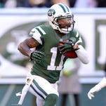 New York Jets wide receiver Jeremy Kerley (11) runs the ball against the Miami Dolphins on Nov. 29, 2015.