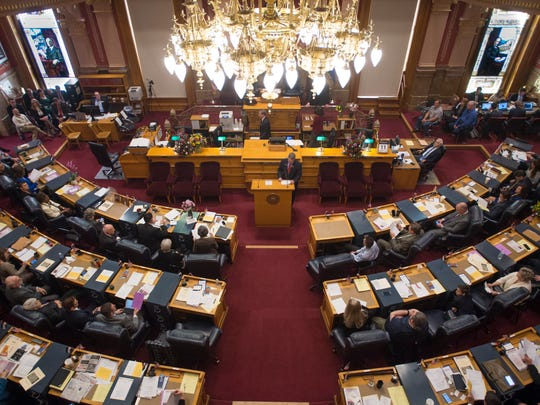 The Colorado Senate convenes in its first session of