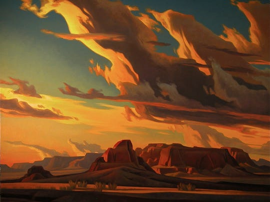 """Kaibito Desert"" - Artist Ed Mell's artwork serves as the scenic design for Arizona Opera's new production, ""Riders of the Purple Sage."""