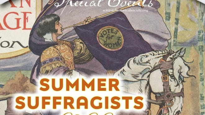 """Historian Lyle Nyberg will be talking about """"Summer Suffragists of Scituate"""" at a virtual presentation at 7 p.m. on Oct. 1."""