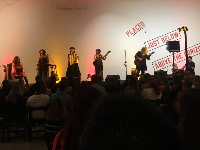 Las Chollas Peligrosas perform at the Phoenix Art Museum