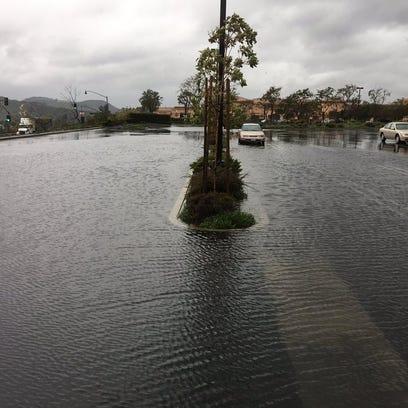Some parking islands near Aldi in Simi Valley were