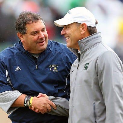 Michigan coach Brady Hoke and Michigan State coach
