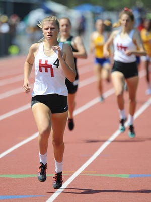 Haddon Township's Annika Merkh finished first in the South Jersey Group 1 girls' 800 meters at Egg Harbor on Saturday.