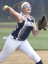 Chambersburg's Tara Harmon fields a ball during the