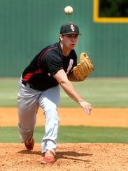 Stewarts Creek's Maddox Vondohlen (3) pitches against