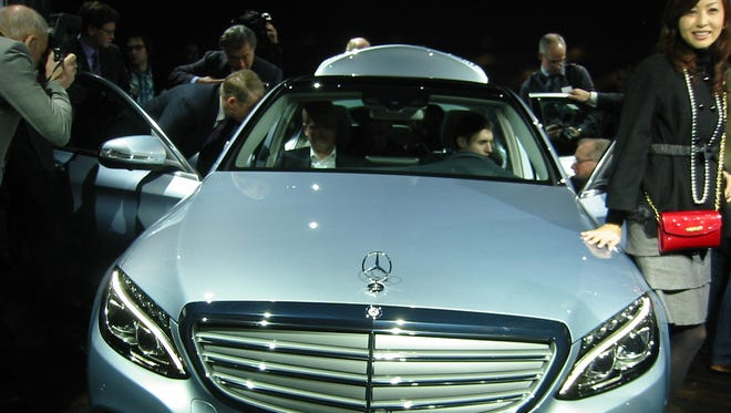 The new Mercedes-Benz C-Class is unveiled in Detroit