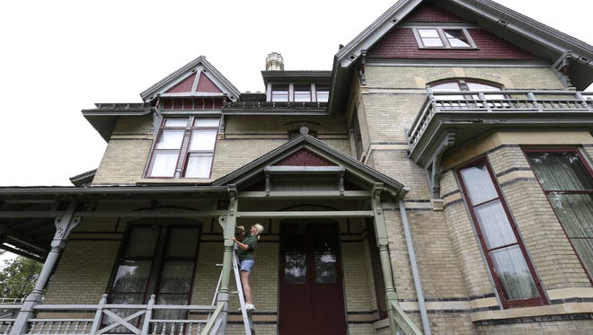 Bricks that were once part of the driveway at the Hearthstone Historic House Museum in Appleton are being sold as a fundraiser.