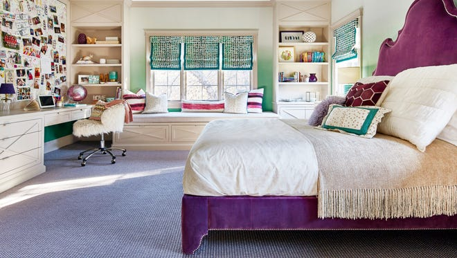 Englewood design group Toledo Geller used Pantone's Color of the Year throughout this bedroom.