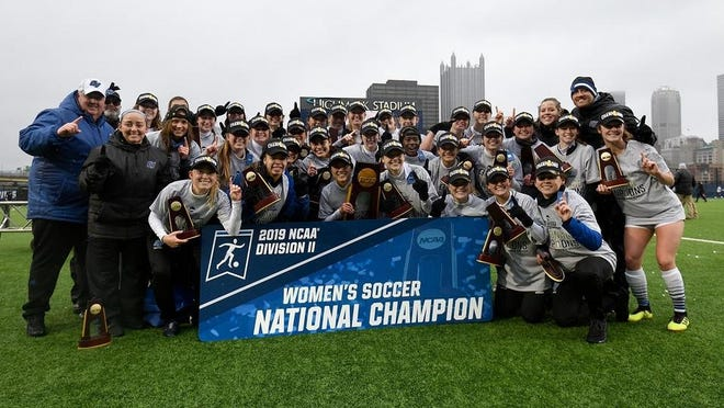 The Grand Valley State soccer team won the Division II national championship last year.