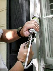 Caulking along windows is one exclusion method to keep