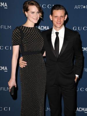 Evan Rachel Wood and Jamie Bell last November.