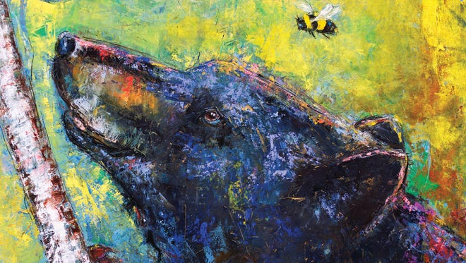 """""""Bear and the Bee"""" by Mark Bettis from """"Parables in Clay and Paint."""""""