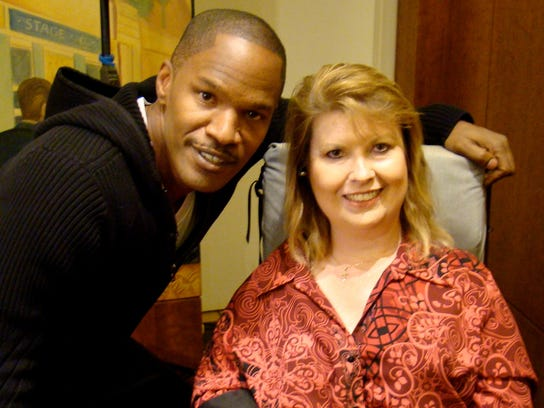 CinemAbility Director Jenni Gold with Jamie Fox.jpg