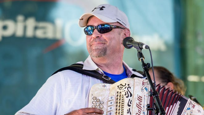 Horace Trahan and members of the Ossun Express visit Acadiana Roots Feb. 22.