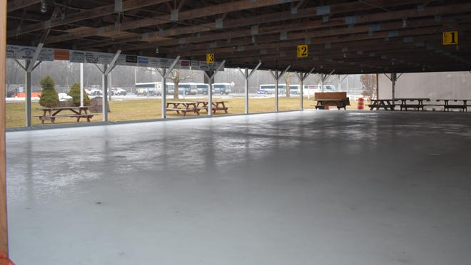 The Wallkill Lions Club plans to host a curling tournament at its rink on Route 208 next Saturday, but might have to postpone the event if the recent trend of relatively warm weather continues. The rink appeared to have some slight ponding on its surface when the temperature climbed above the freezing point again on Saturday.