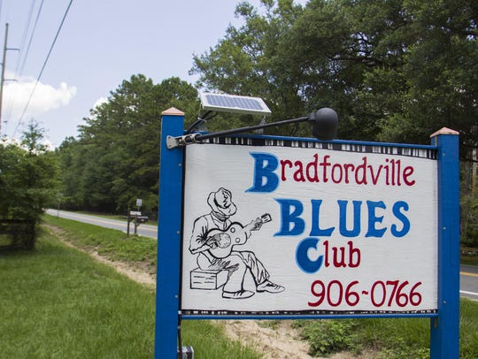 Sign at the Bradfordville Blues Club.