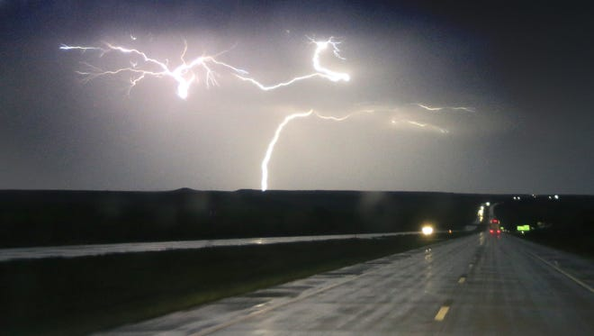 Time is of the essence for National Weather Service meteorologists when issuing warnings for events like this severe thunderstorm Tuesday near Junction City, Kansas.