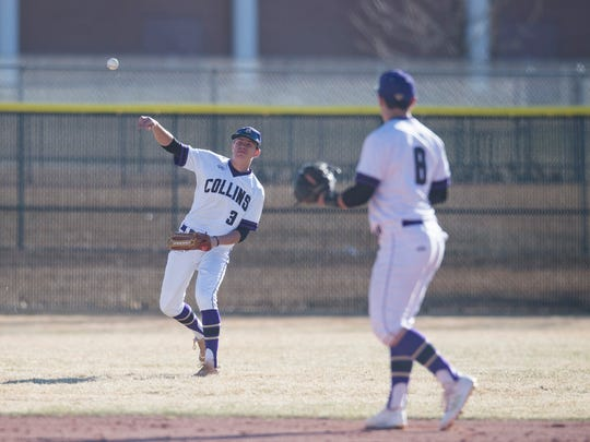 The Fort Collins baseball team hosts Smoky Hill at 1 p.m. Saturday