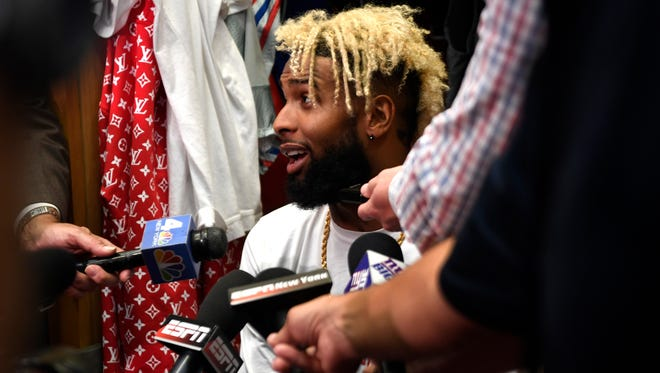 Injury or no injury, Giants wide receiver Odell Beckham Jr. never changes his attitude.