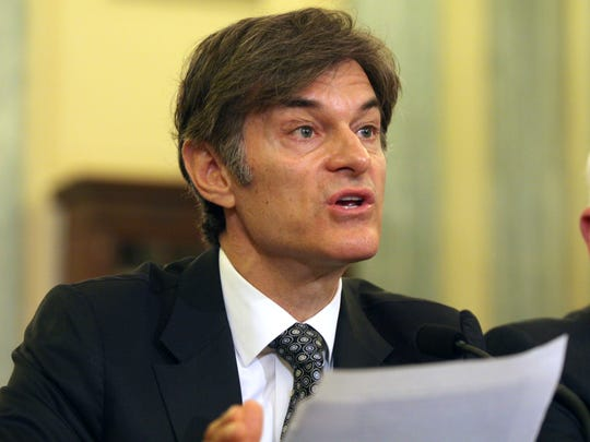Dr. Oz testifies on Capitol Hill on June 17, 2014.