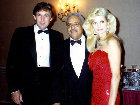 Dr. Benjamin Hooks with Donald and Ivana Trump at Miss