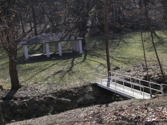 Last year Cleve Gordon and his wife helped clean up and paint the gazebo and bridge over a creek at John Todd Park in South Mansfield.