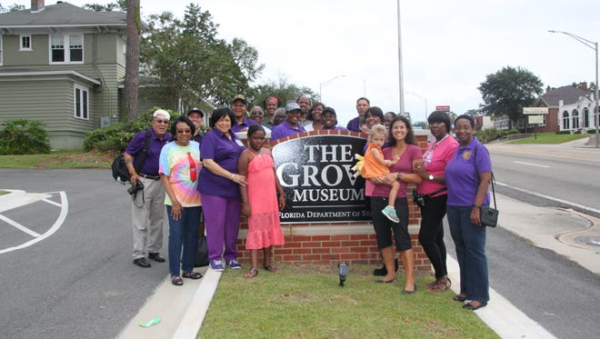 Bethel AME Church members recently toured the Grove Museum