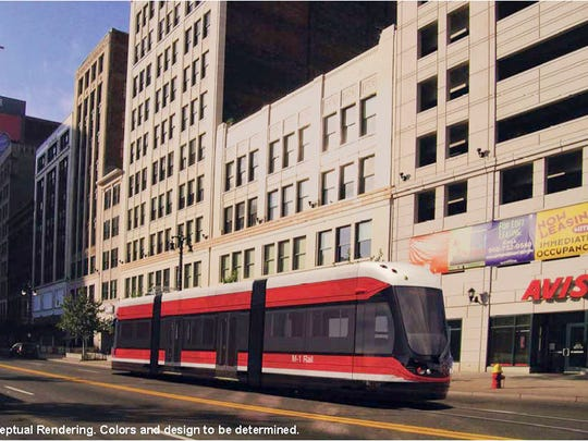 M-1 Rail has released a conceptual drawing of one of the streetcars to be designed and built by Brookville Equipment Corp. of Brookville, Pa.