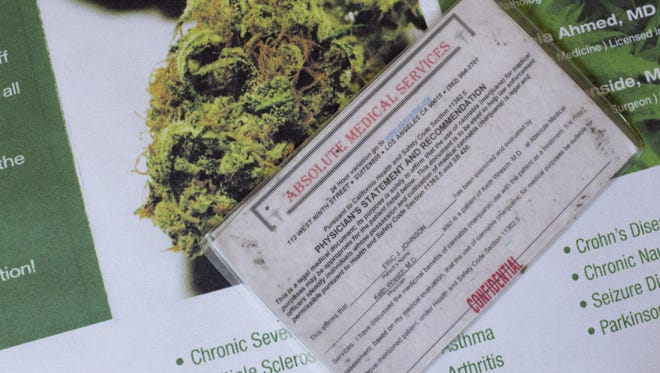 A medical marijuana card from California. The Arizona Court of Appeals has ruled non-Arizona residents who have medical marijuana cards can possess and use medical marijuana.