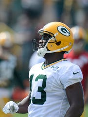 Packers receiver Chris Harper missed on a big opportunity Thursday during training camp practice.