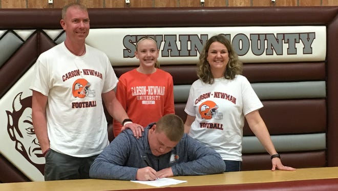 Swain County senior Jake Marr has signed to play college football for Carson-Newman (Tenn.).