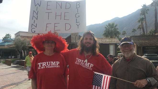 Participants in a proTrump rally Saturday in Palm Springs who turned out to support President Donald Trump.