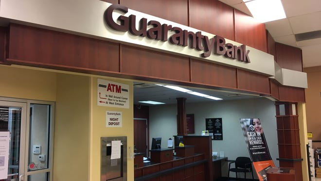 First Citizens Bank will lay off about 100 employees in Glendale, Brown Deer. The Raleigh-based company acquired Guaranty Bank last year and closed all of Guaranty's grocery store branches, including this branch inside of a Brookfield Pick 'n Save.